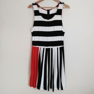 Mystree Striped Dress Fit and Flare Size Large
